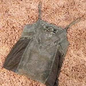 BKE BOUTIQUE- LACE TANK SMALL